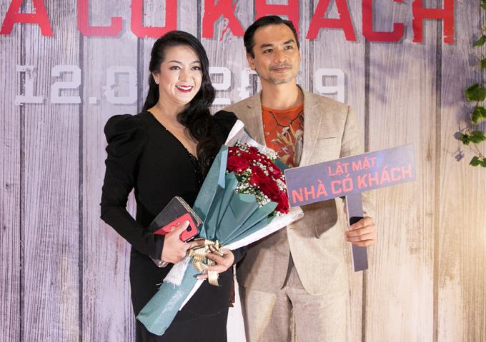 Hoa hậu Điện ảnh 1992 Thanh Xuân rất vui khi có dịp gặp lại bạn thân Đức Hải.