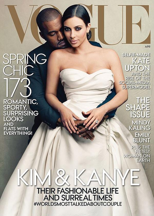 Kim bị phản đối lên bìa Vogue - 1