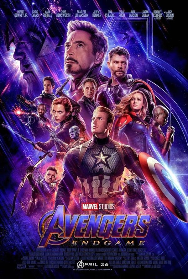 Poster chính thức của Avengers: Endgame.