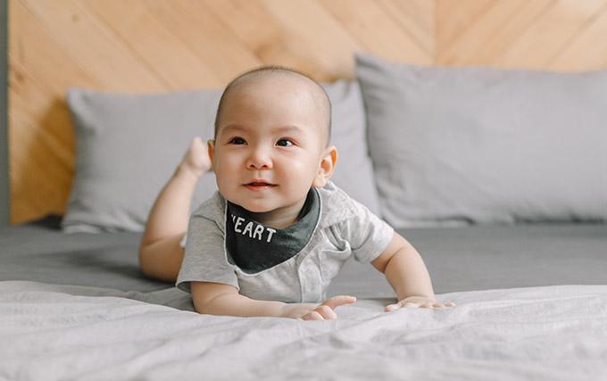 Cậu nhóc được nhiều người nhận xét càng lớn càng giống bố Jay Quân.