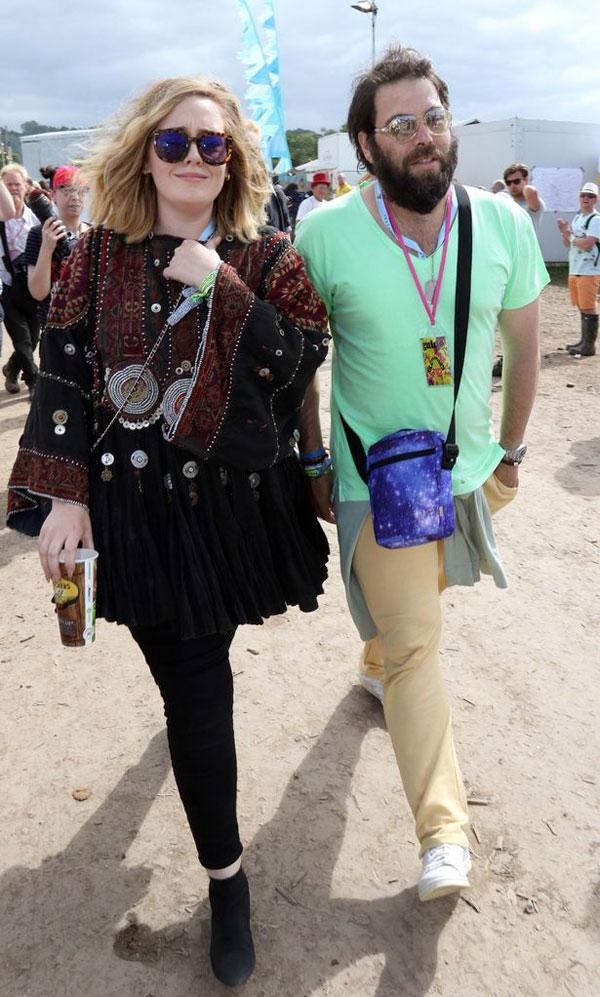 Adele và chồng.