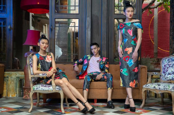 Bộ ảnh được thực hiện với sự hỗ trợ của creative DirectorNguyễn Hoàng Anh, nhiếp ảnh Chanh,người mẫuKim Nhung - Long Lê - Kha Mỹ Vân, trang điểm và làm tóc Xi Quan Lê.