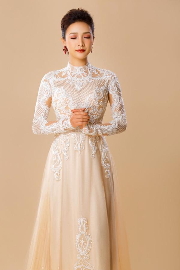 Người đẹp Việt tỏa sáng trong áo dài lấp lánh - 8