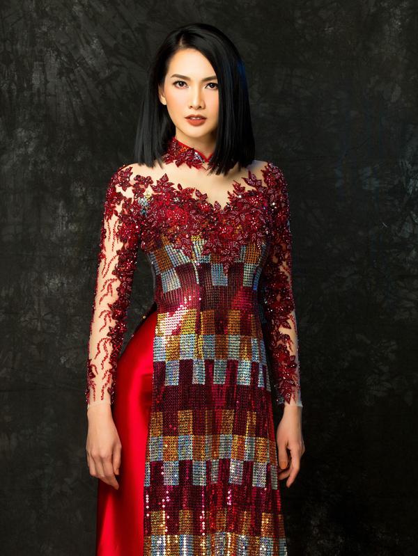 Người đẹp Việt tỏa sáng trong áo dài lấp lánh - 3