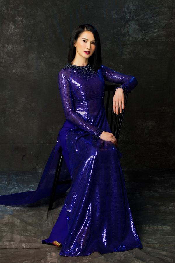 Người đẹp Việt tỏa sáng trong áo dài lấp lánh - 4