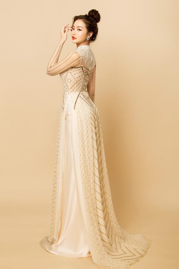 Người đẹp Việt tỏa sáng trong áo dài lấp lánh - 6