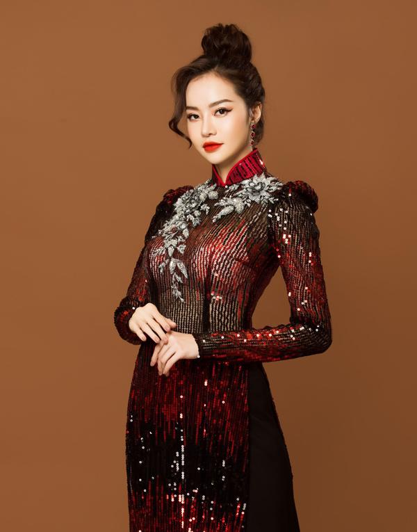 Người đẹp Việt tỏa sáng trong áo dài lấp lánh - 7