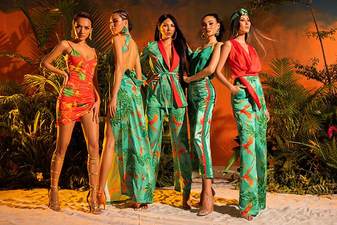Andaman Sunset bao gồm hơn 50 thiết kết phóng khoáng, gợi cảm. Nhà mốt Việthi vọng sẽ mang đến một mùa hè nóng bỏng, rực rỡ với những kỉ niệm để đời cho các cô gái, các quý khách hàng.