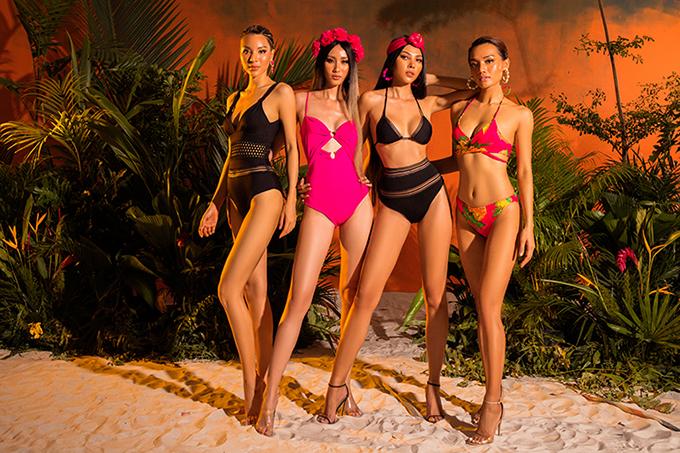 Áo tắm cũng đa dạng về kiểu dáng không kém các mẫu váy đi biển. Từ kiểu liền thân đến các mẫu áo bơi hai mảnh đều được chăm chút