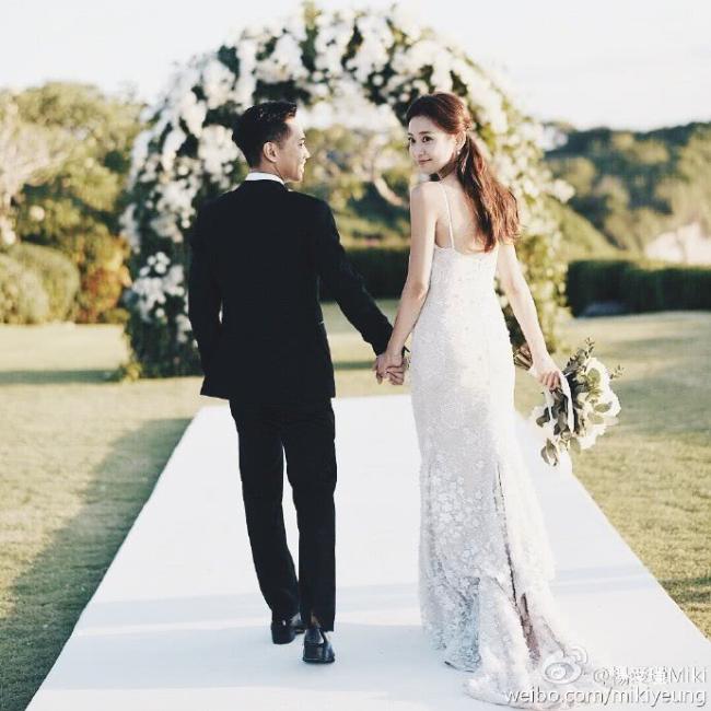 Ảnh cưới của cặp đôi được chia sẻ trên trang cá nhân.