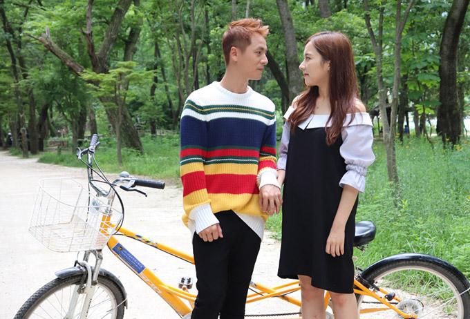 Vợ Đăng Khôi động viên chồng diễn tình tứ với người đẹp Hàn Quốc - 1