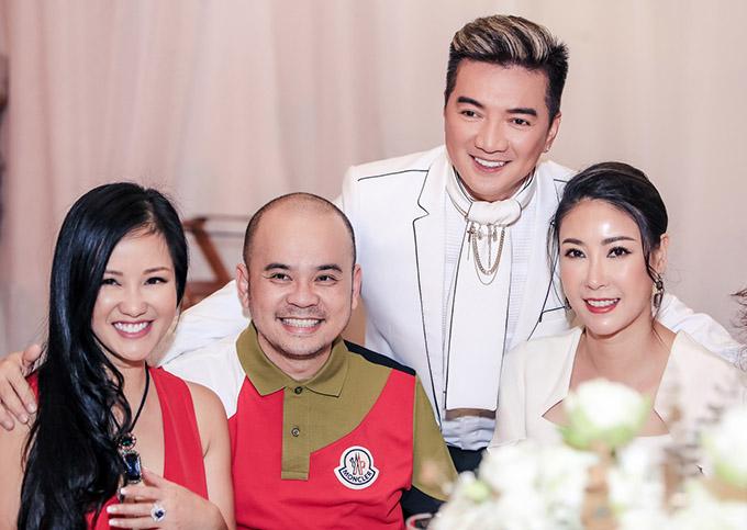 Diva Hồng Nhung, Hoa hậu Hà Kiều Anh và doanh nhân Dương Quốc Nam là những người bạn rất thân của Mr Đàm.