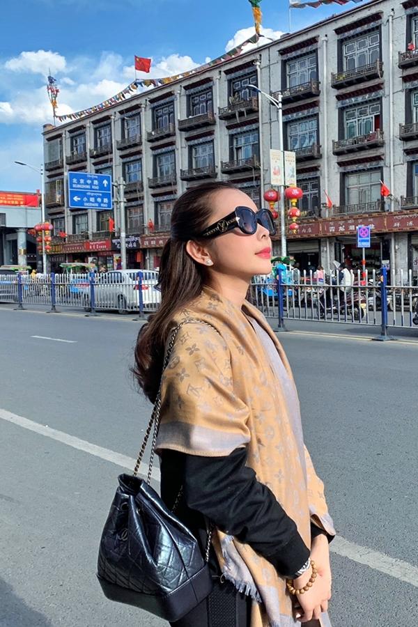 Hoa hậu Huỳnh Vy vừa có chuyến du lịch đến Tây Tạng dịp nghỉ lễ vừa qua.
