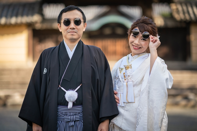 Chị Ngọc và ông xã người Nhật.