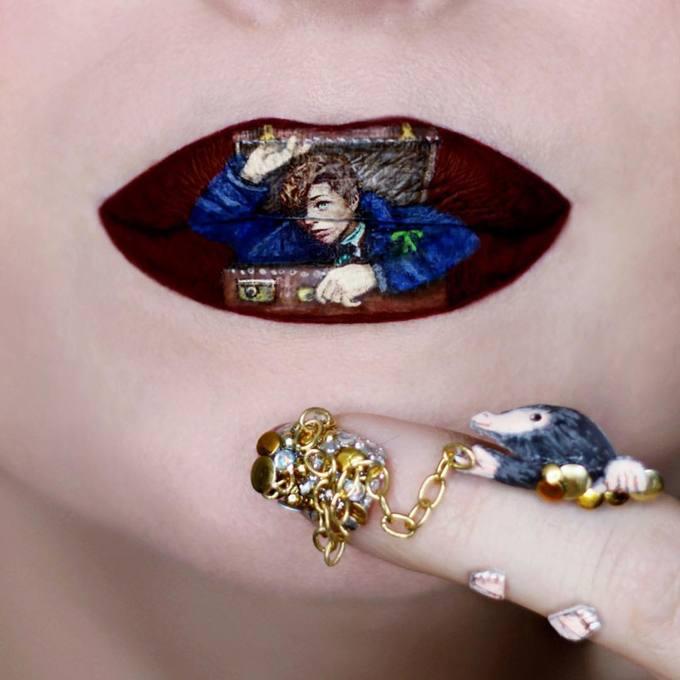 Nghệ sĩ trang điểm tái hiện poster phim kinh điển lên môi