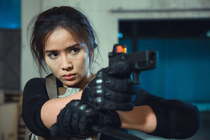 Tạo hình của Bella Mai trong phim ngắn The Killer.