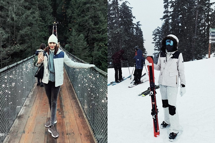Huấn luyện viên the Face thích thú trải nghiệm các hoạt động trượt tuyết, leo núi...