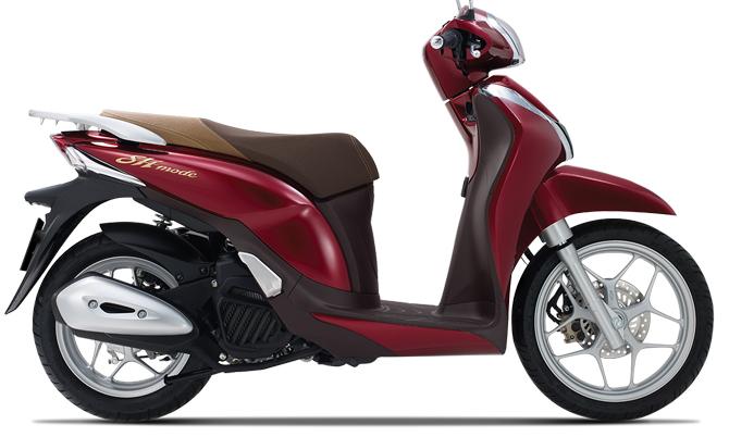 Honda SH Mode 125 có thêm màu đỏ mới