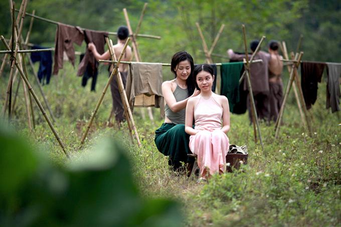 Nguyễn Phương Trà My có nhiều cảnh đóng chung với ca sĩ Maya trong phim Vợ ba.