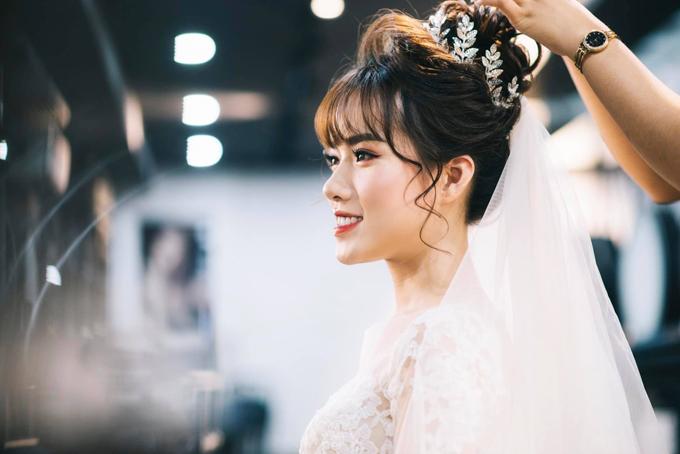Chi Hoa cho biết cô không gặp nhiều khó khăn khi tổ chức đám cưới vì đã có sự chuẩn bị kỹ càng và được sự trợ giúp của gia đình, người thân.
