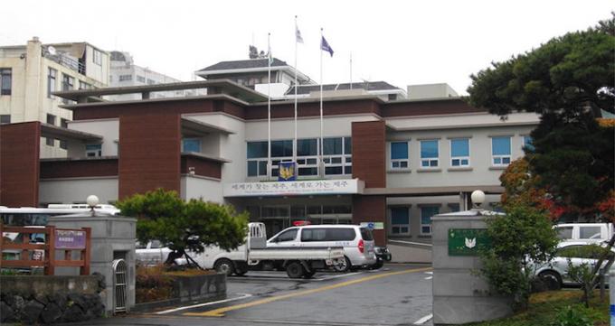 Sở cảnh sát đảo Jeju, Hàn Quốc. Ảnh: Daum.