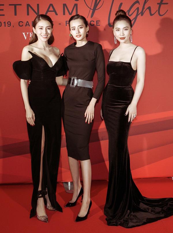 Từ trái qua: Lê Hà, Kim Chi và Quỳnh Thư mỗi người một vẻ.