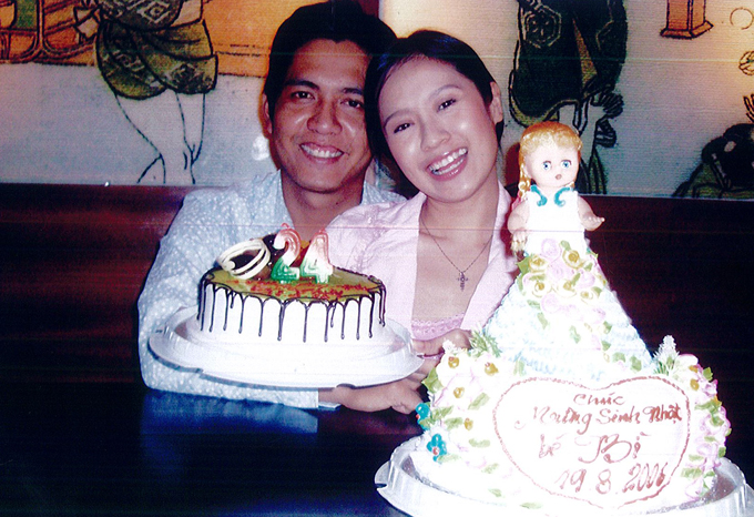 Thanh Thúy hạnh phúc đón sinh nhật tuổi 24 bên Đức Thịnh - khi đó vẫn là bạn trai cô.