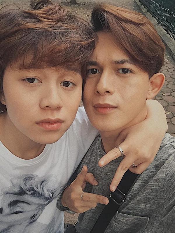 Bảo Hân và Quang Anh ở hậu trường Về nhà đi con.