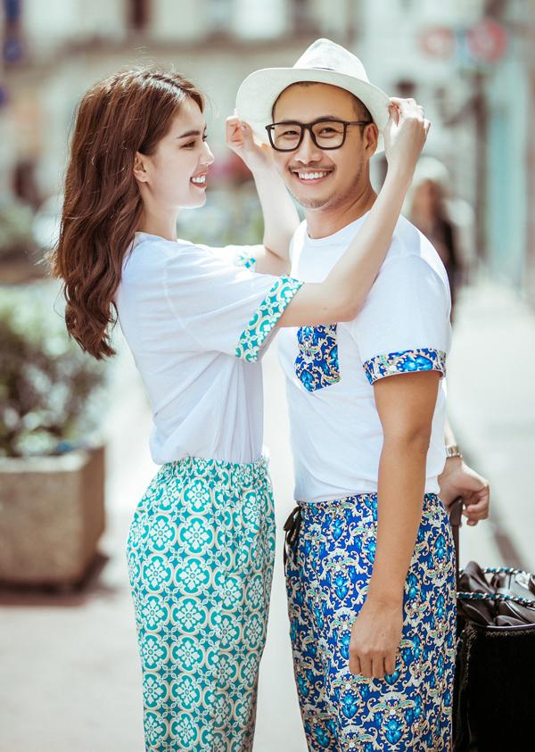 Ngọc Trinh thích thú dạo phố ở Cannes với Bảo Bảo.