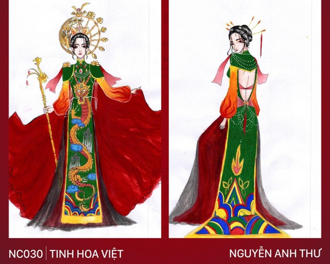 Trang phục Bàn thờ cho Hoàng Thùy thi Miss Universe gây tranh cãi - 6