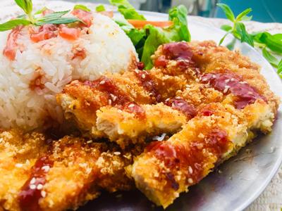 Cơm gà chiên xù sốt teriyaki ngày cuối tuần - 3