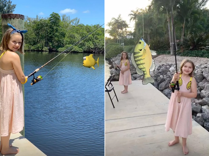 Harper thích thú đi câu cá
