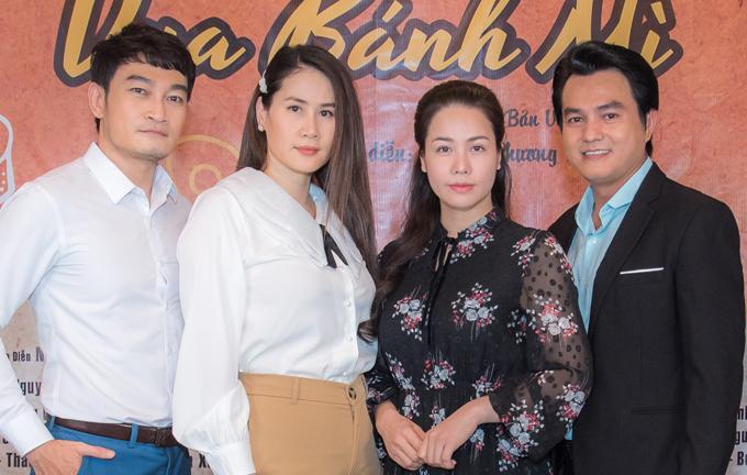 Diễn viên Quốc Thái (ngoài cùng bên trái) góp mặt trong dàn khung được đánh giá là chất lượng, hứa hẹn tạo nên thành công của Vua bánh mì phiên bản Việt.