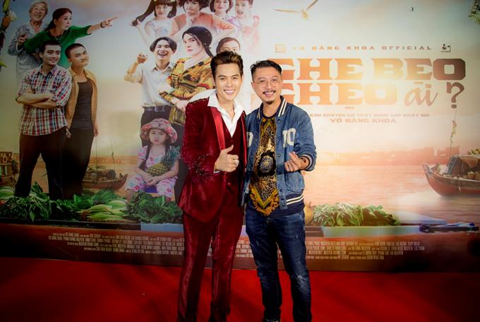 Diễn viên Hứa Minh Đạt đến chúc mừng đàn em.