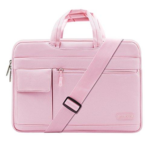 Túi thương hiệu Mosiso: Chiếc túi này có đặc trưng là lớp đệm bên trong mịn, chống sốc giúp bảo vệ máy tính không bị trầy xước. Dây kéo trên túi lướt trơn tru, có thể dùng để máy tính 15 inch, giá 942.000 đồng.