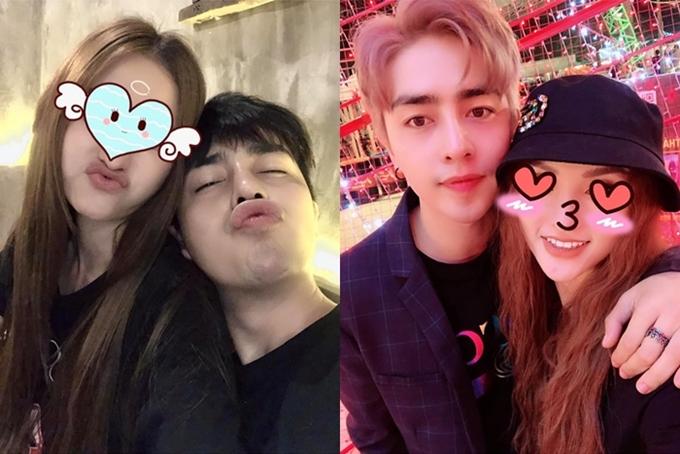 Riêng Kin Nguyễn lại thường che giấu mặt bạn gái nổi tiếng mỗi khi đăng ảnh chung trên trang cá nhân.
