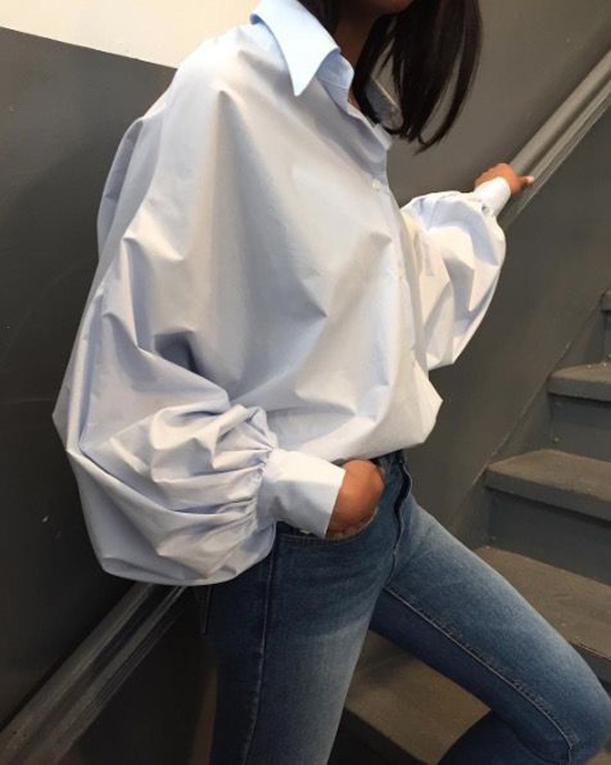 Mốt áo tay bồng cho nàng yêu phong cách bánh bèo - 9