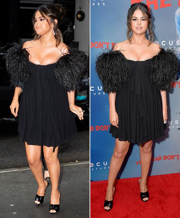 Selena diện váy thương hiệu Celine và được chuyên gia trang điểm gốc việt Hung Vanngo make up cho sự kiện này.