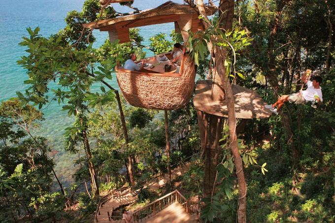 Bữa tối lơ lửng giữa rừng ở Thái Lan