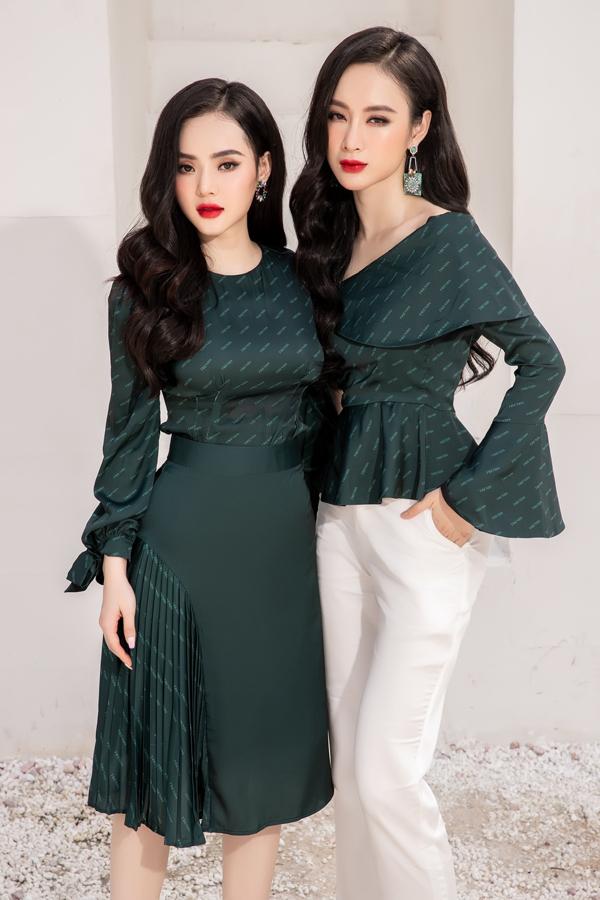 Vải in độc quyền cũng được em gái Angela Phương Trinh đầu tư để mang tới điểm nhấn riêng cho các thiết kế của mình.