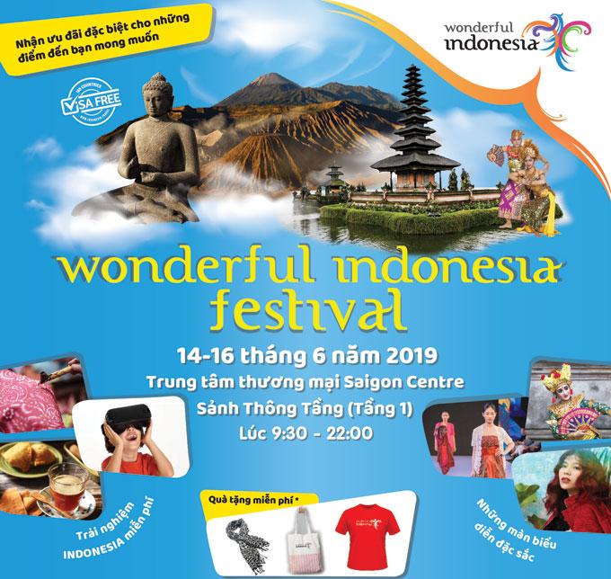 Lễ hội Wonderful Indonesia 2019 có nhiều hoạt động hấp dẫn.