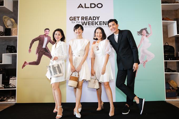 Các gương mặt nghệ sỹ xuất hiện với các bộ outfits và giày dép, phụ kiện thời trang ALDO để có thể biến hóa xinh đẹp và tự tin tham dự Coffee with AldoCrew vào cuối tuần.