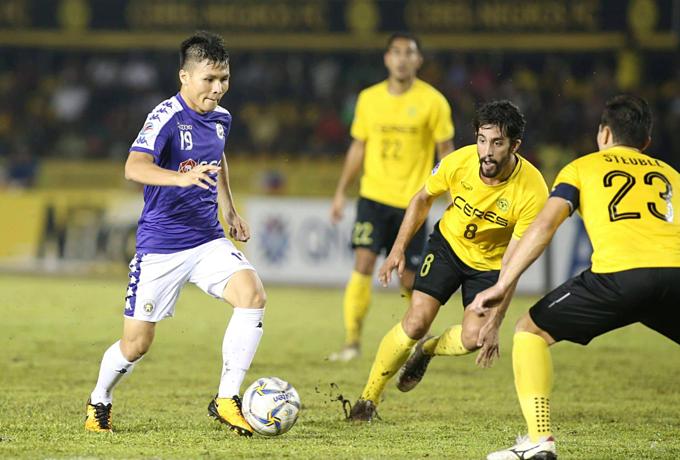 Quang Hải chơi trọn 90 phút ở AFC Cup.
