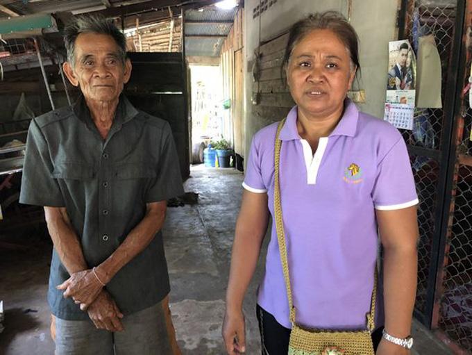 Bà Suban và người chồng thứ hai, ông Chakri Khamruang. Ảnh: Viral Press.