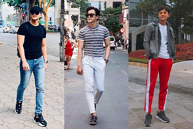 Chàng trai chọn phong cách đơn giản, năng động khi xuống phố. Anh cũng nhiều lần bị bắt gặp mặc đồ ton-sur-ton với Mỹ Tâm.