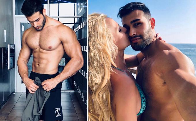 Sam Asghari là người mẫu kiêm huấn luyện viên thể hình. Anh quen Britney từ năm 2016 khi đóng trong MV Slumber Party của nữ ca sĩ. Ngôi sao nhạc pop nhanh chóng phải lòng chàng trai trẻ kém cô 13 tuổi không chỉ có gương mặt điển trai mà body cũng hiếm có khó tìm. Cặp đôi bên nhau mặn nồng suốt 3 năm qua.