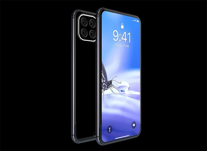 Theo trang Concept-Phones, Hasan Kaymak đã hình dung mẫu iPhone 11 Pro này có tổng cộng 4 camera sau với các ống kính được sắp xếp theo một cụm hình vuông và có dàn đèn LED bao bao quanh.