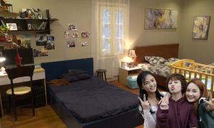 Phòng ngủ của 3 con gái nhà ông Sơn trong 'Về nhà đi con'