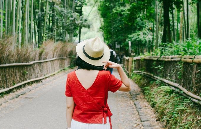 Rừng tre Sagano trở thành biểu tượng của du lịch Kyoto. Ảnh: Nguyên Chi