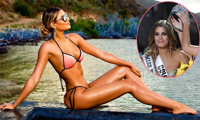 'Hoa hậu bị trao nhầm vương miện' mặc nóng bỏng trên biển